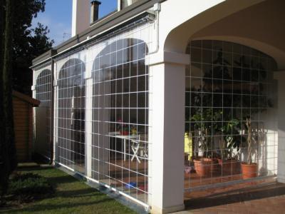 Protezione veranda con telo in pvc